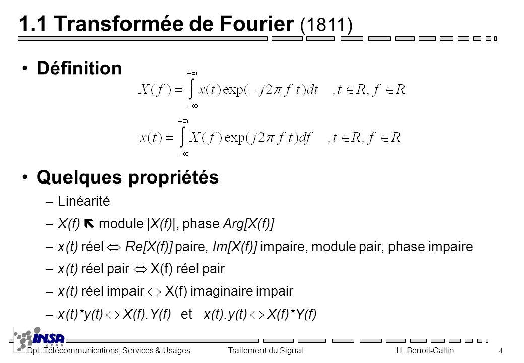 1.1 Transformée de Fourier (1811)