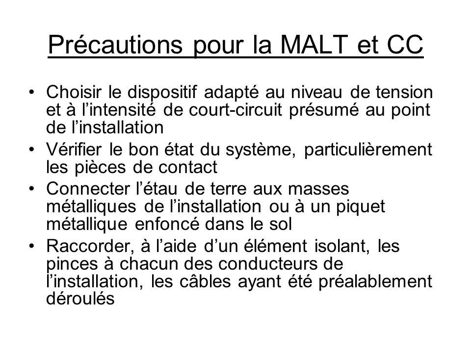 Précautions pour la MALT et CC