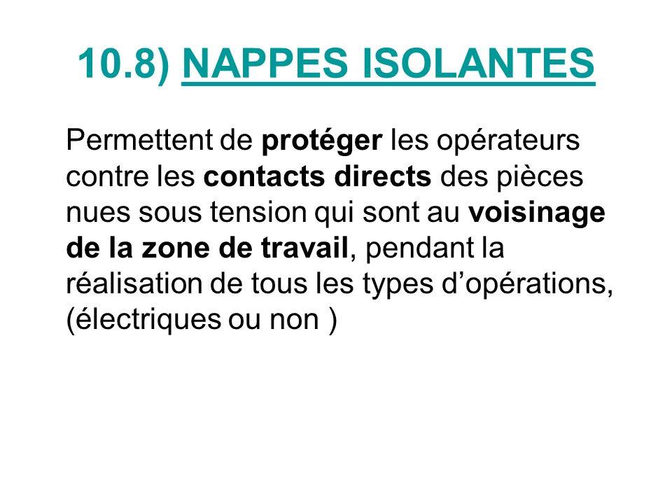 10.8) NAPPES ISOLANTES