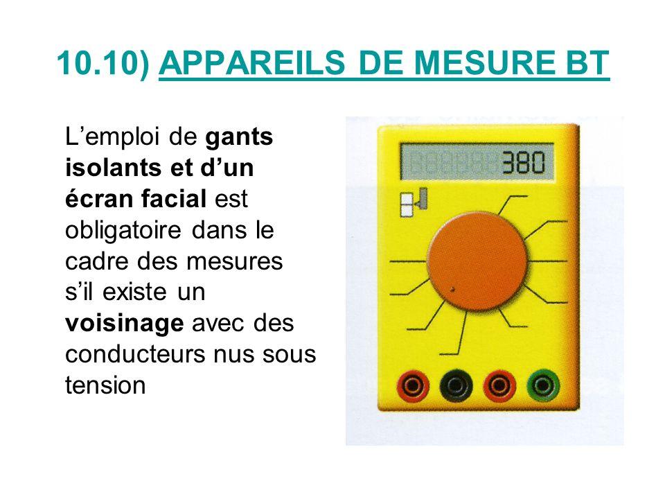 10.10) APPAREILS DE MESURE BT