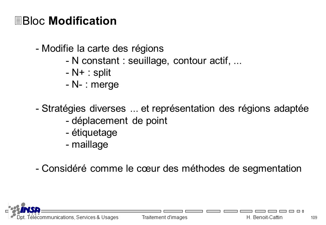 Bloc Modification - Modifie la carte des régions