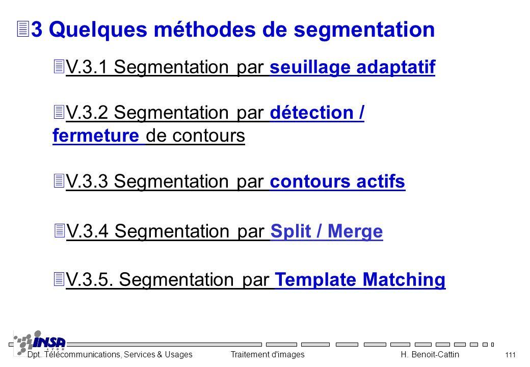 3 Quelques méthodes de segmentation