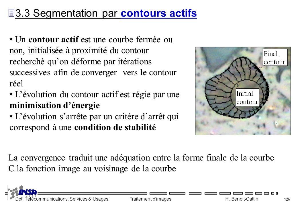 3.3 Segmentation par contours actifs