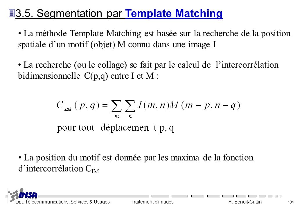 3.5. Segmentation par Template Matching