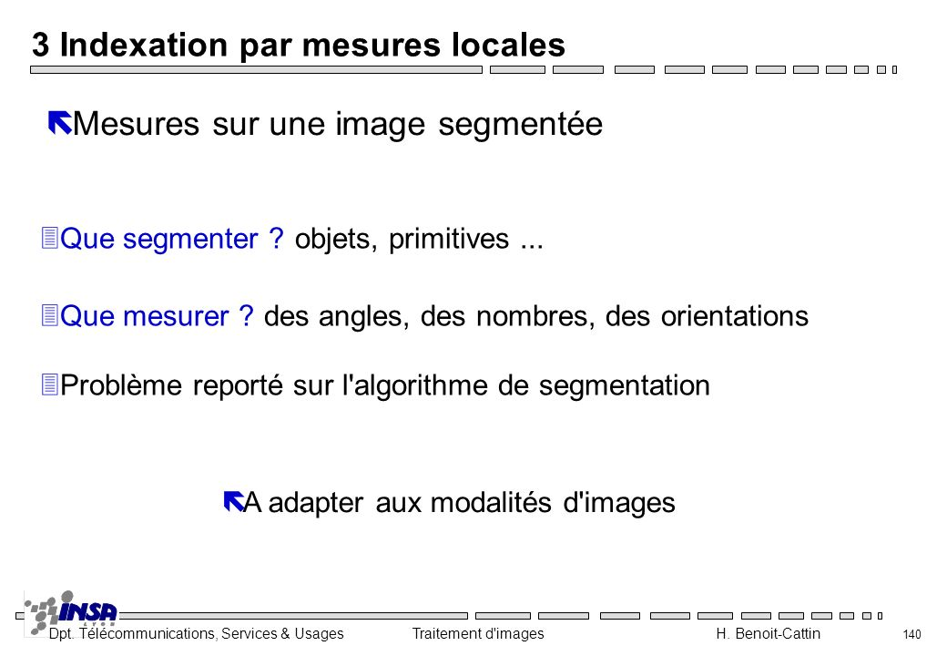 3 Indexation par mesures locales