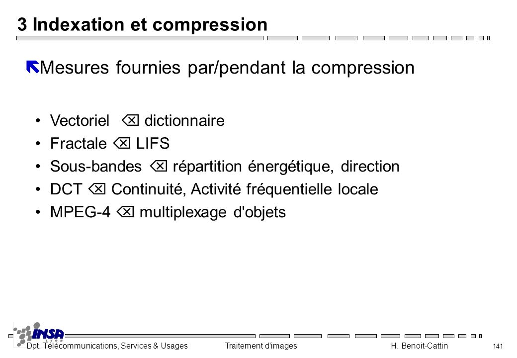 3 Indexation et compression