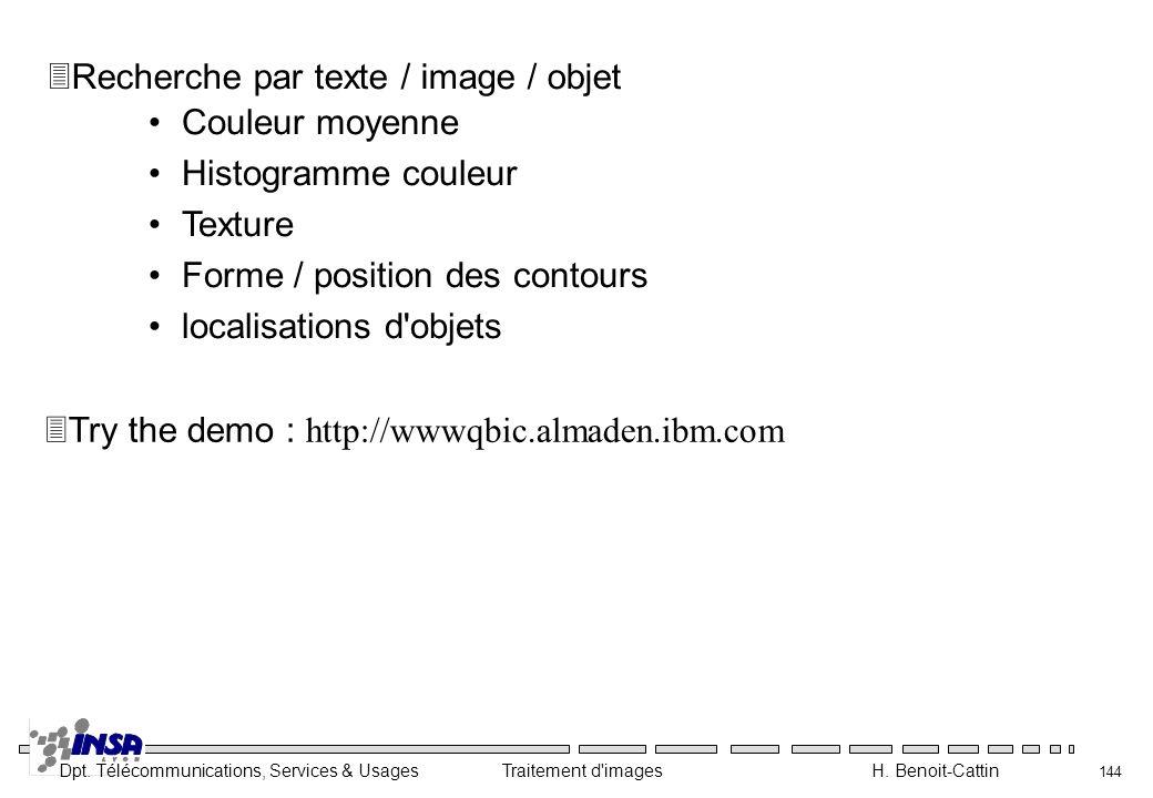 Recherche par texte / image / objet