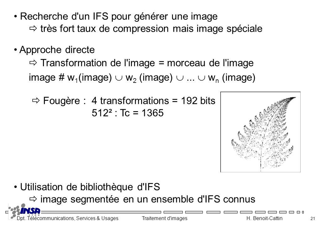 Recherche d un IFS pour générer une image