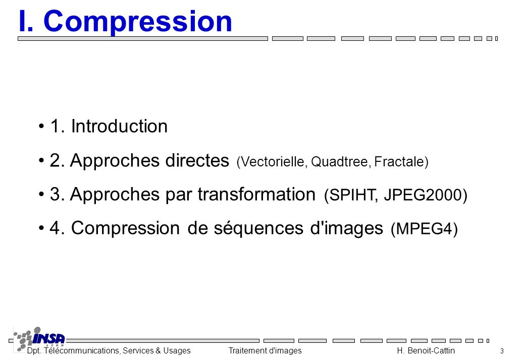 I. Compression 1. Introduction