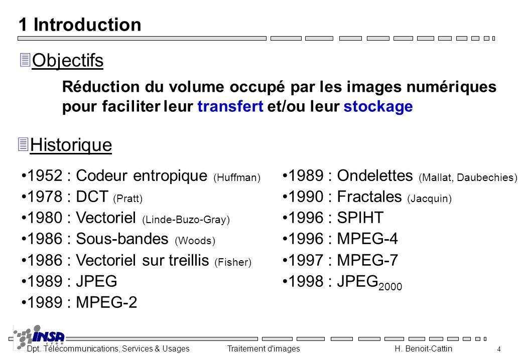 1 Introduction Objectifs Historique