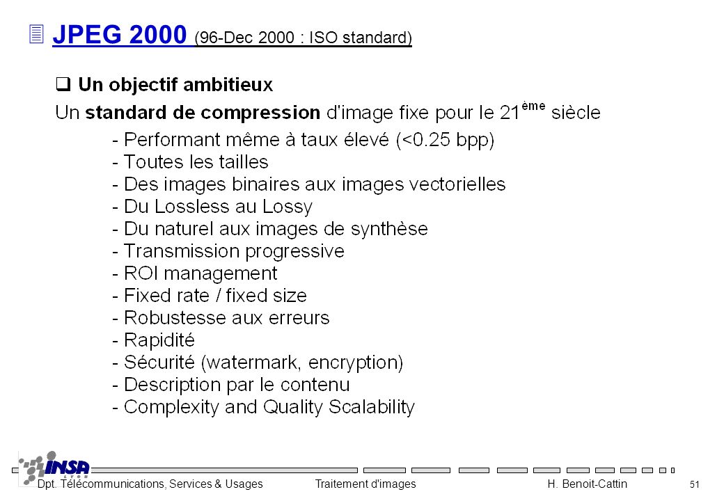 JPEG 2000 (96-Dec 2000 : ISO standard)