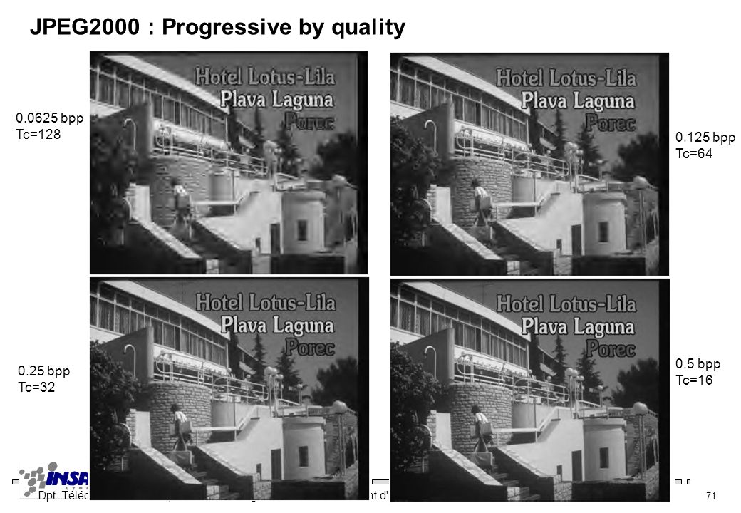 JPEG2000 : Progressive by quality