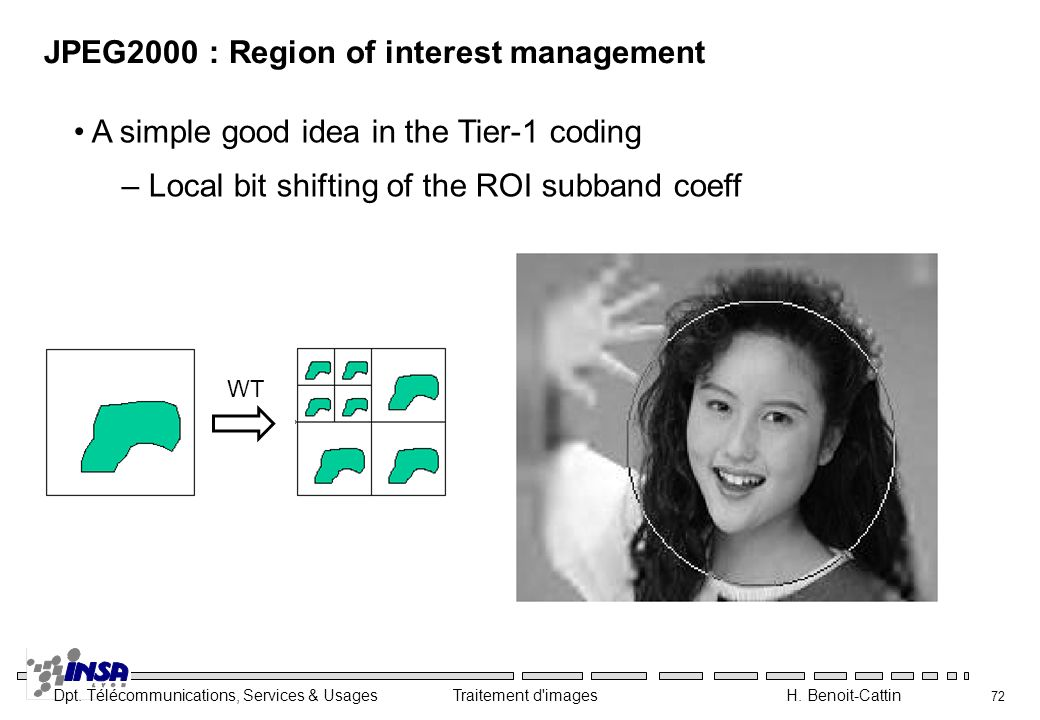 JPEG2000 : Region of interest management