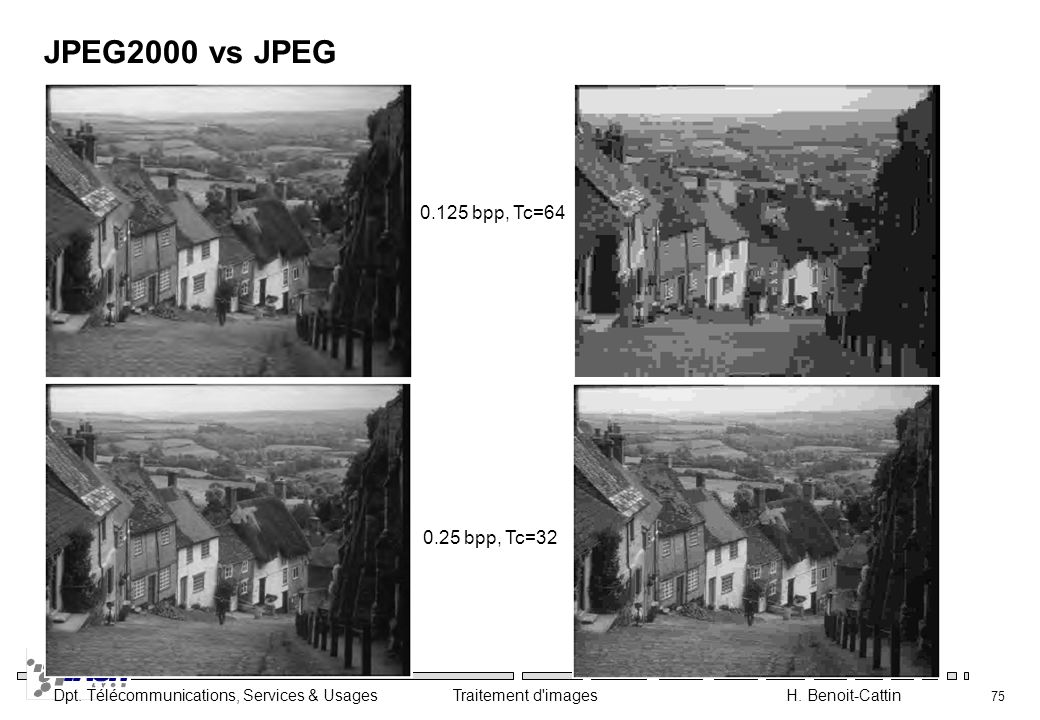 JPEG2000 vs JPEG bpp, Tc= bpp, Tc=32