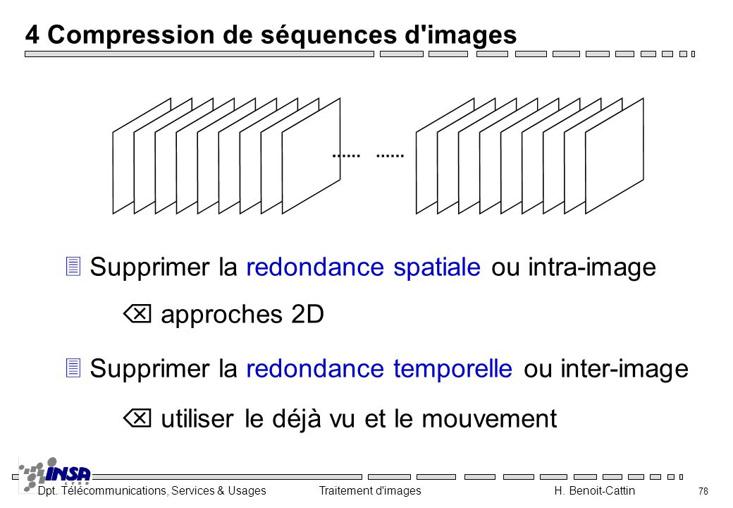 4 Compression de séquences d images