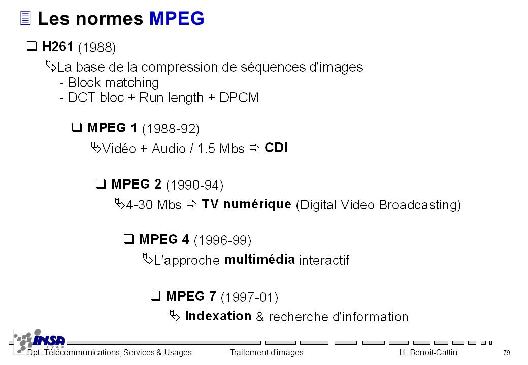 Les normes MPEG