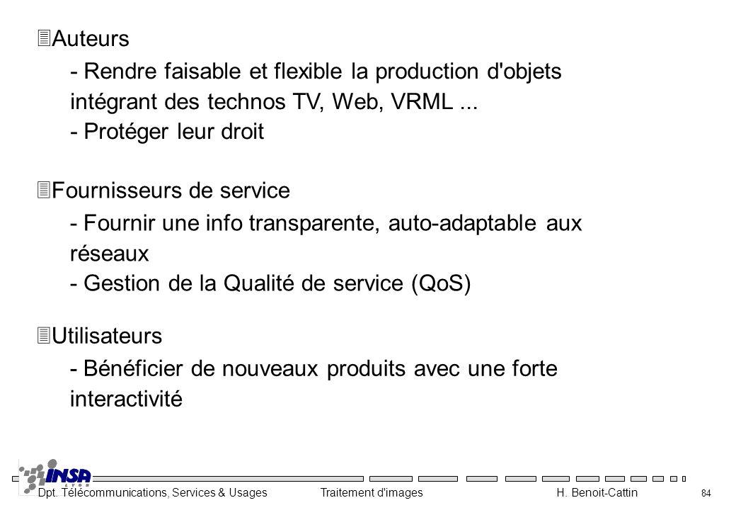 Auteurs - Rendre faisable et flexible la production d objets intégrant des technos TV, Web, VRML ...