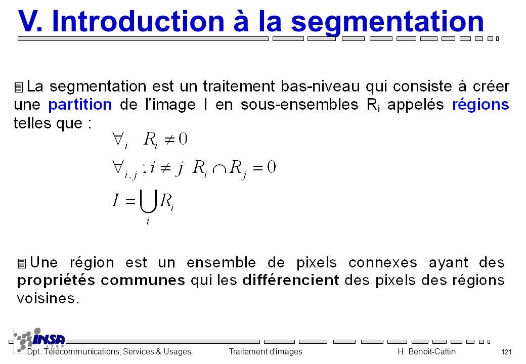 V. Introduction à la segmentation