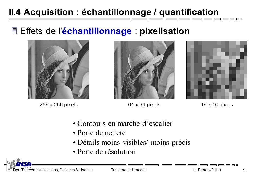 II.4 Acquisition : échantillonnage / quantification