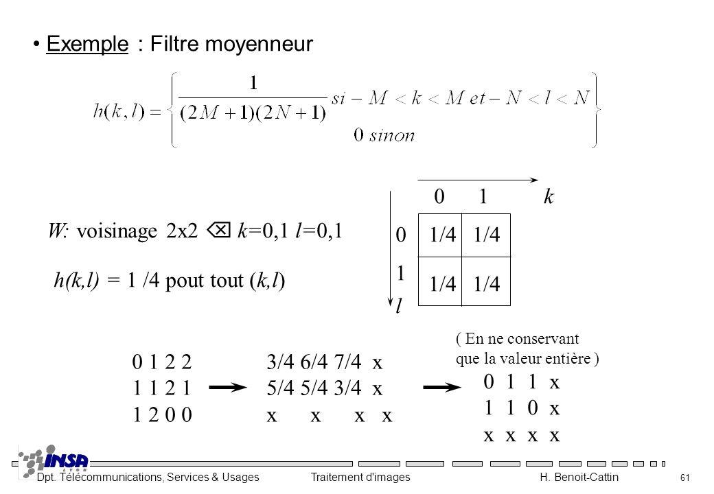 Exemple : Filtre moyenneur