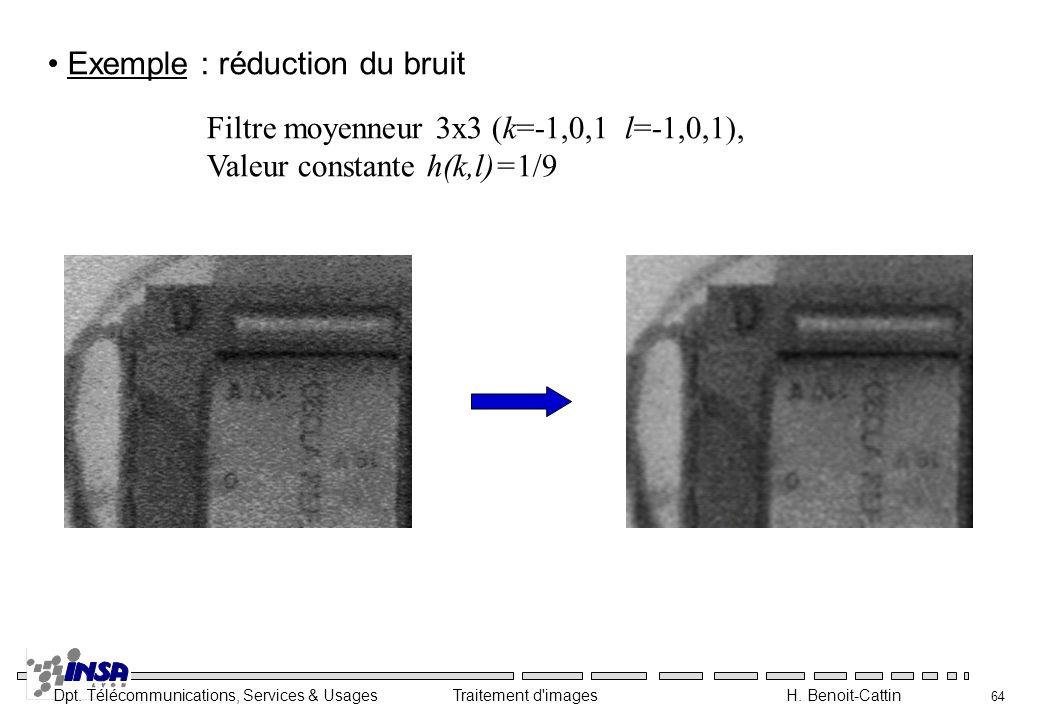 Exemple : réduction du bruit