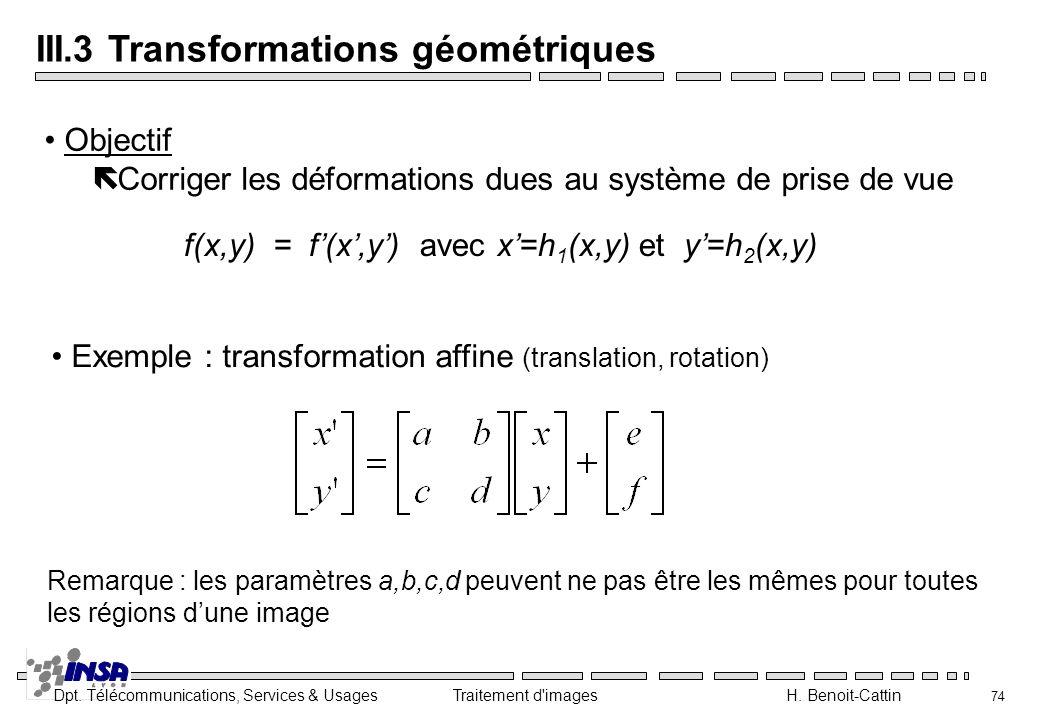 III.3 Transformations géométriques