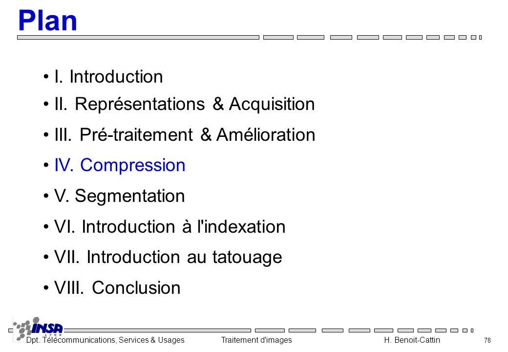 Plan I. Introduction II. Représentations & Acquisition