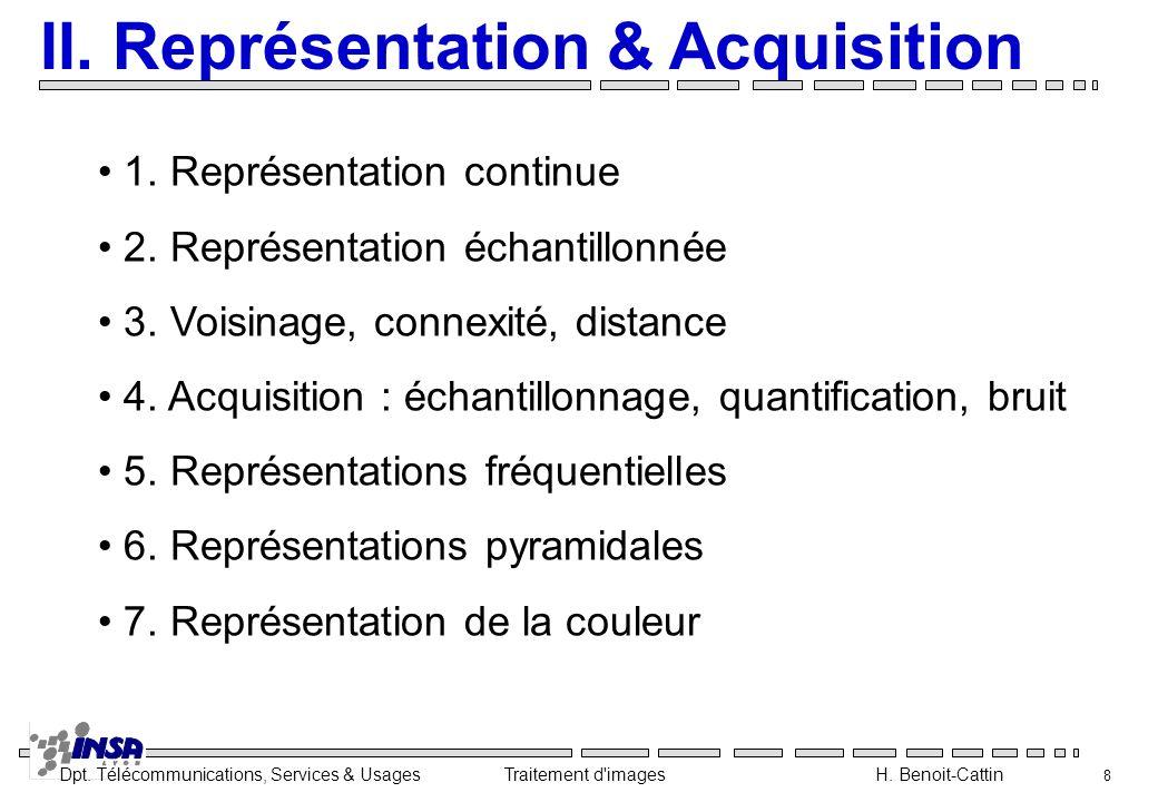 II. Représentation & Acquisition