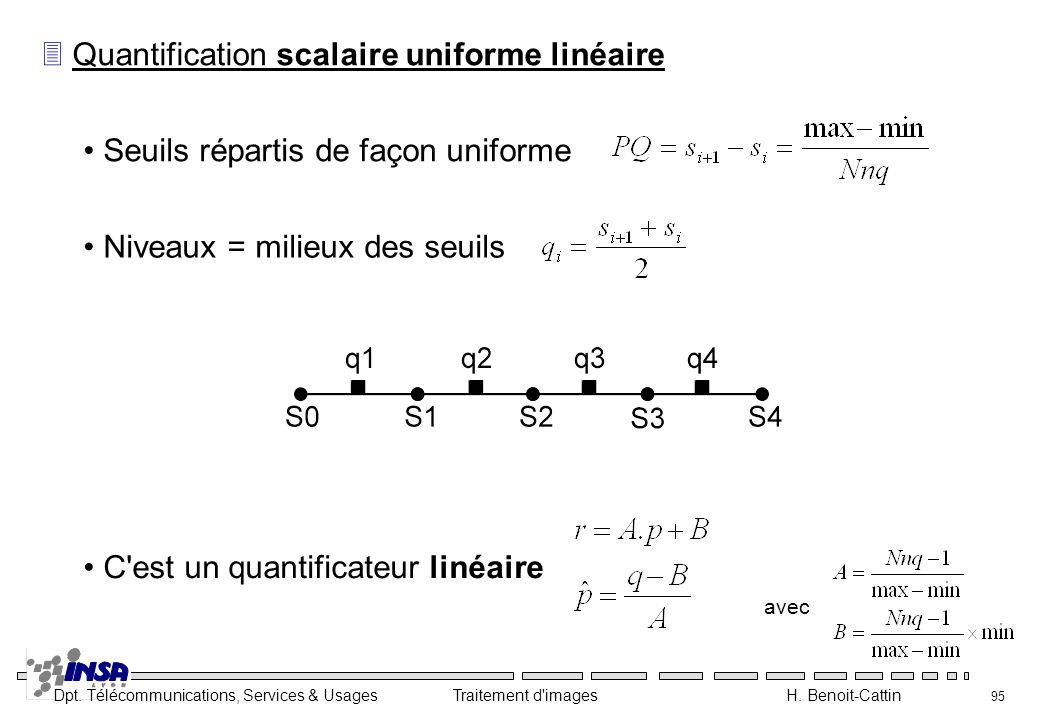 Quantification scalaire uniforme linéaire