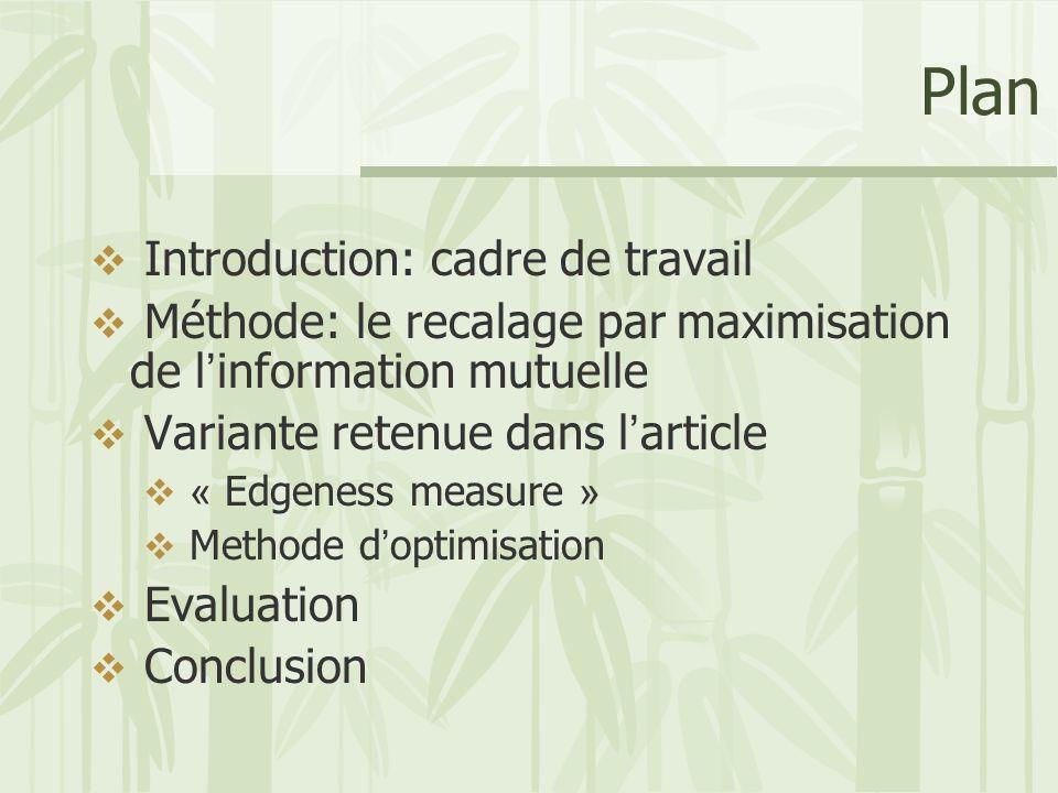 Plan Introduction: cadre de travail