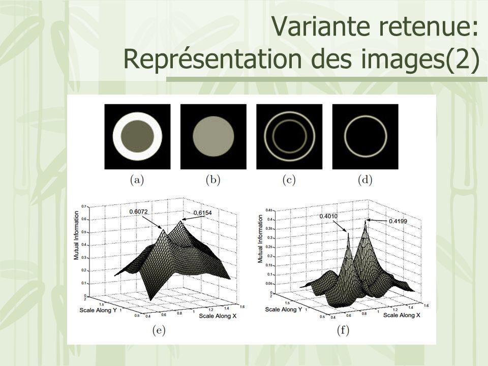 Variante retenue: Représentation des images(2)