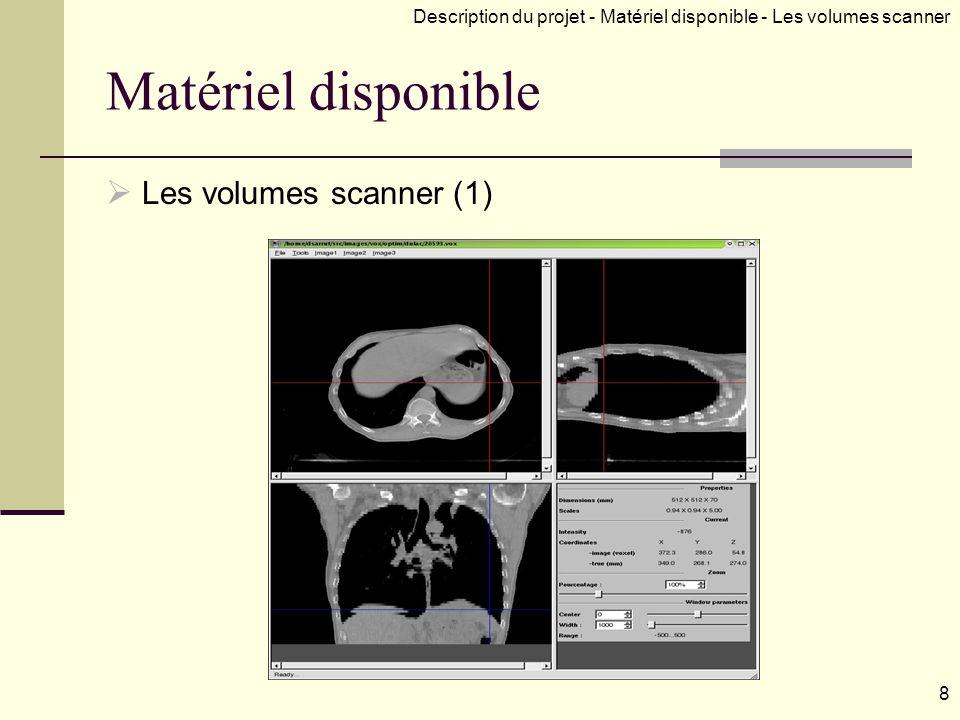 Matériel disponible Les volumes scanner (1)