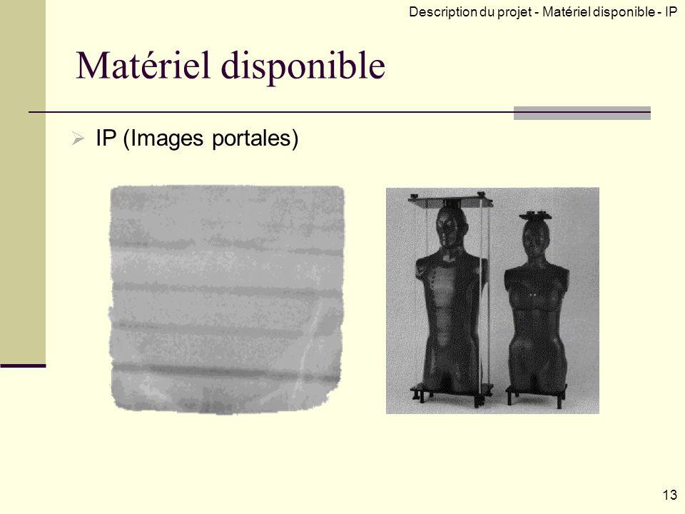 Matériel disponible IP (Images portales)