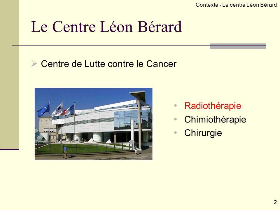 Le Centre Léon Bérard Centre de Lutte contre le Cancer Radiothérapie