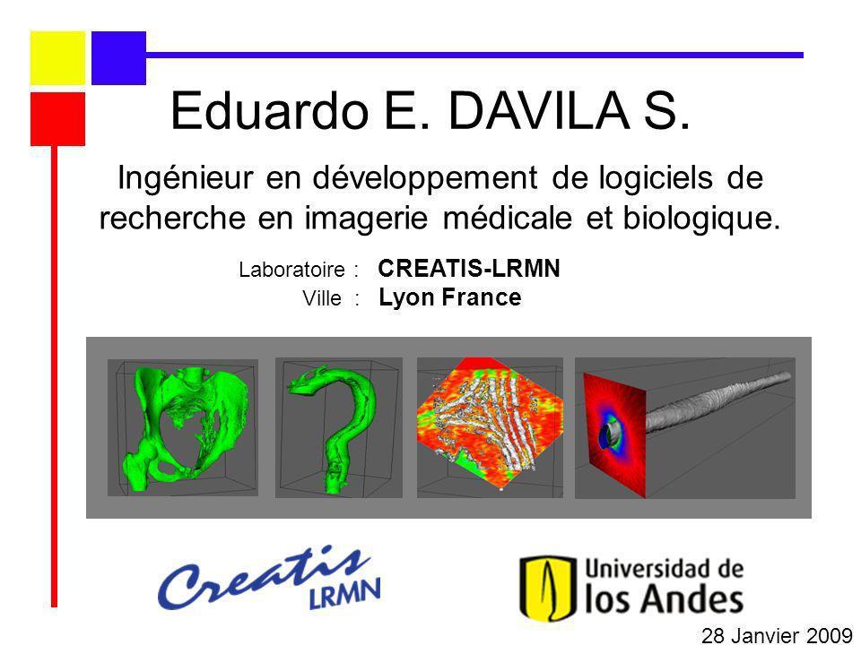 Eduardo E. DAVILA S. Ingénieur en développement de logiciels de