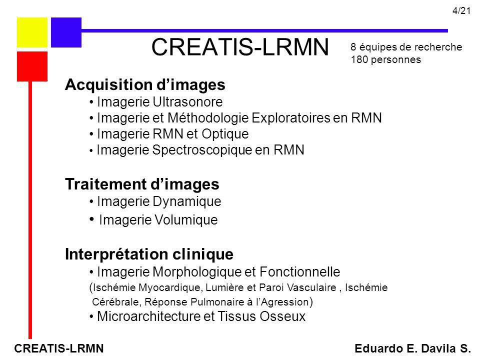 CREATIS-LRMN Acquisition d'images Traitement d'images