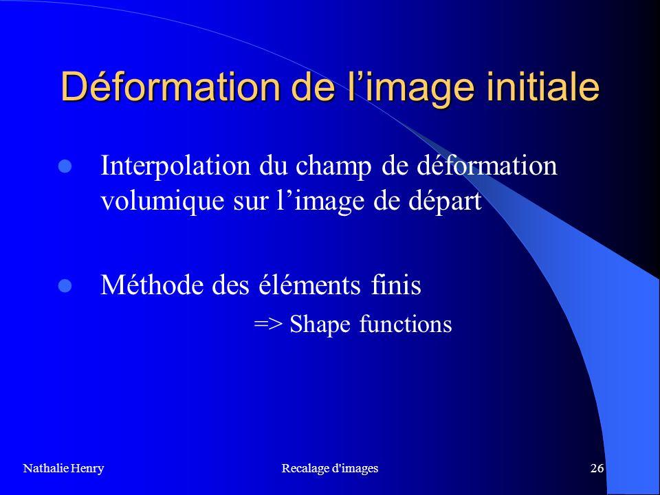 Déformation de l'image initiale