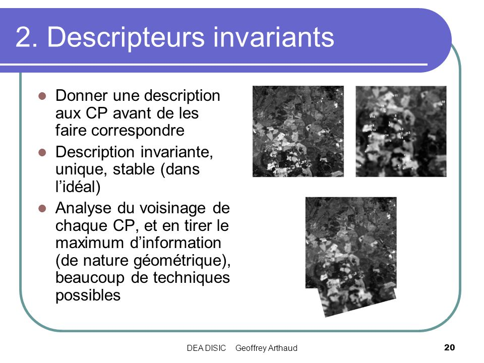 2. Descripteurs invariants