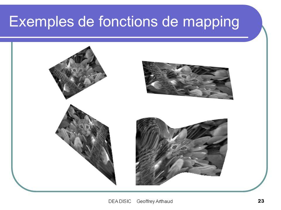 Exemples de fonctions de mapping