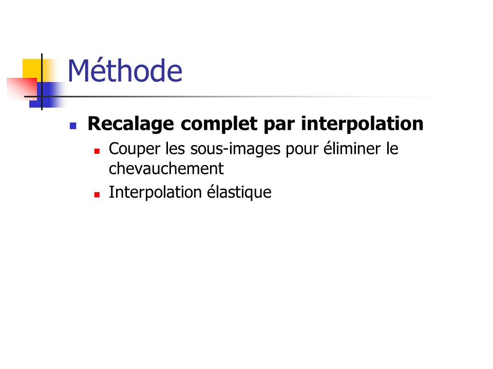 Méthode Recalage complet par interpolation