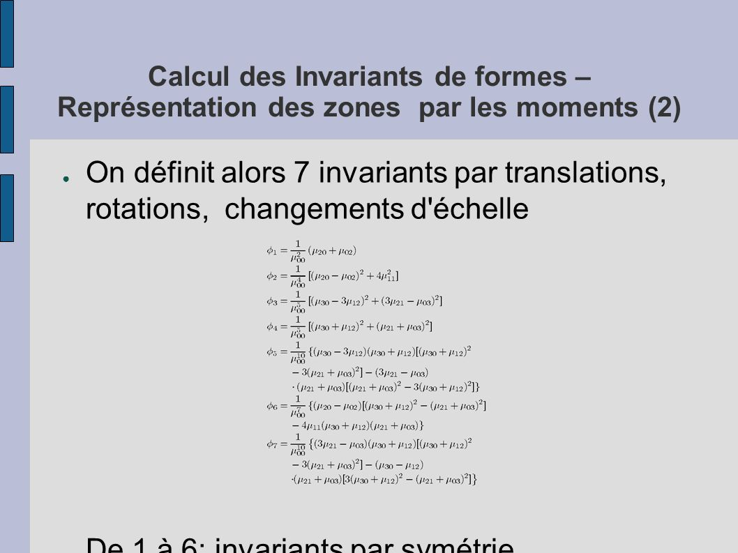 De 1 à 6: invariants par symétrie