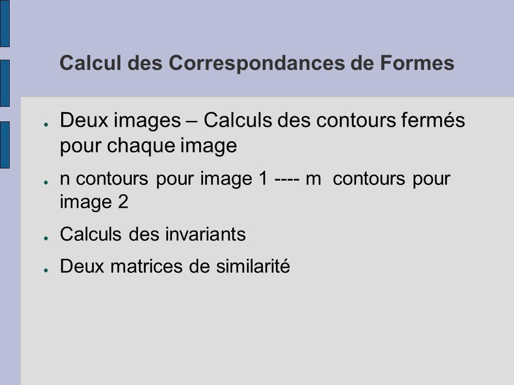 Calcul des Correspondances de Formes