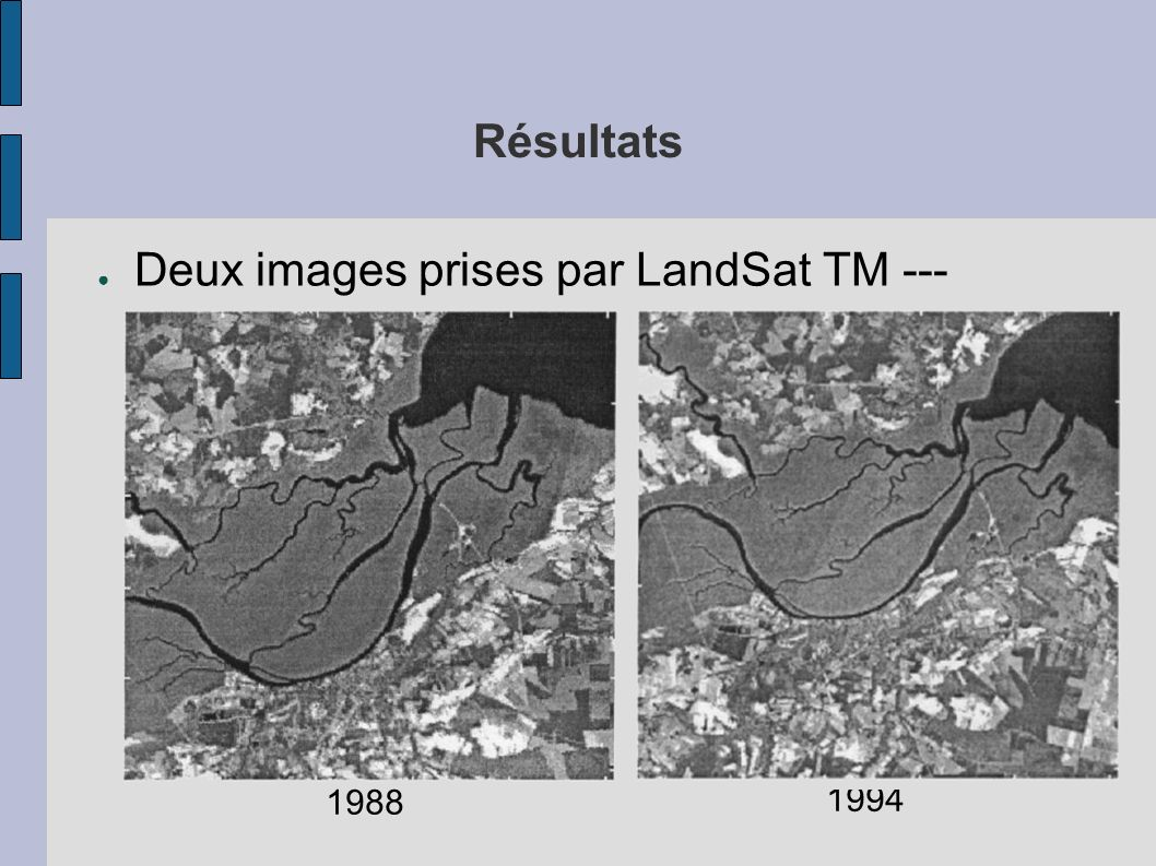 Deux images prises par LandSat TM --- Caroline du Nord