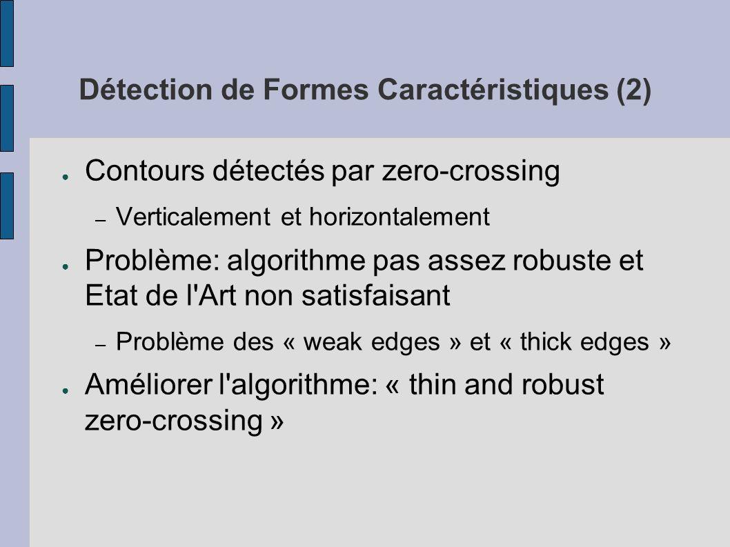 Détection de Formes Caractéristiques (2)