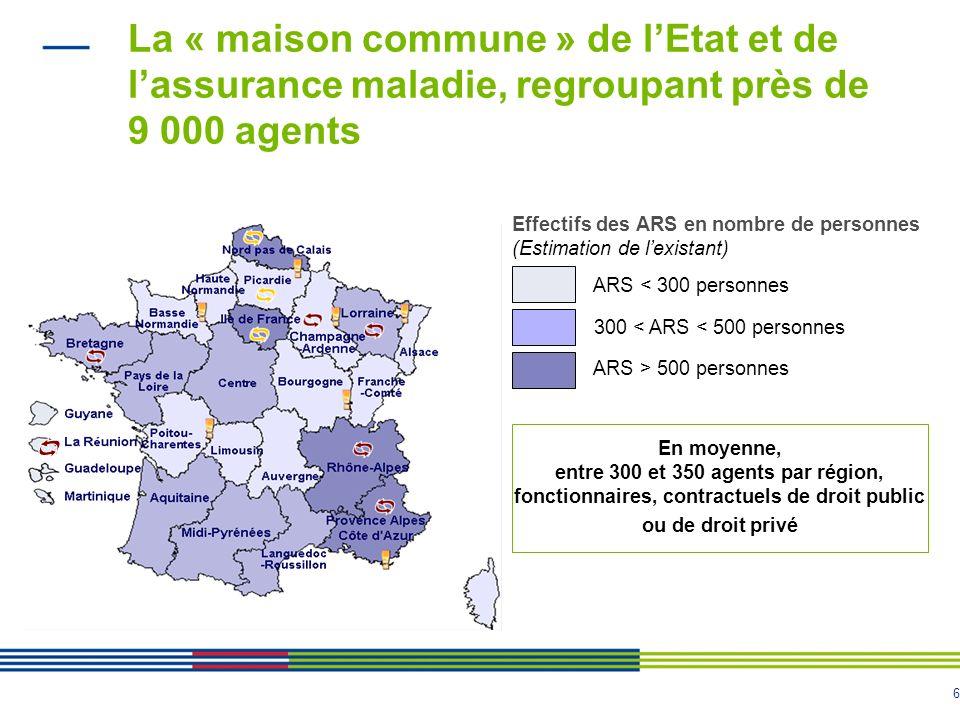 La « maison commune » de l'Etat et de l'assurance maladie, regroupant près de 9 000 agents