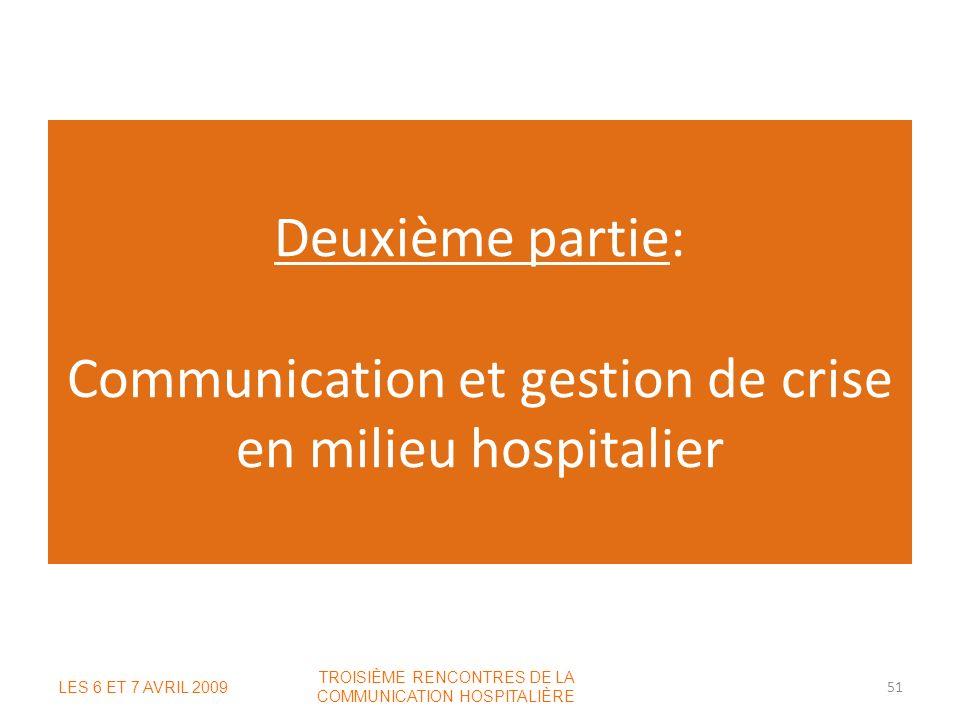 TROISIÈME RENCONTRES DE LA COMMUNICATION HOSPITALIÈRE