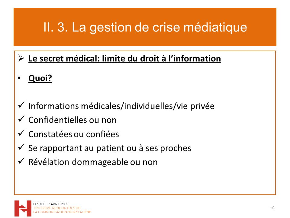 II. 3. La gestion de crise médiatique