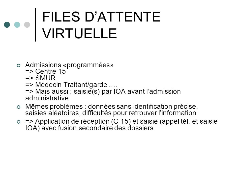 FILES D'ATTENTE VIRTUELLE
