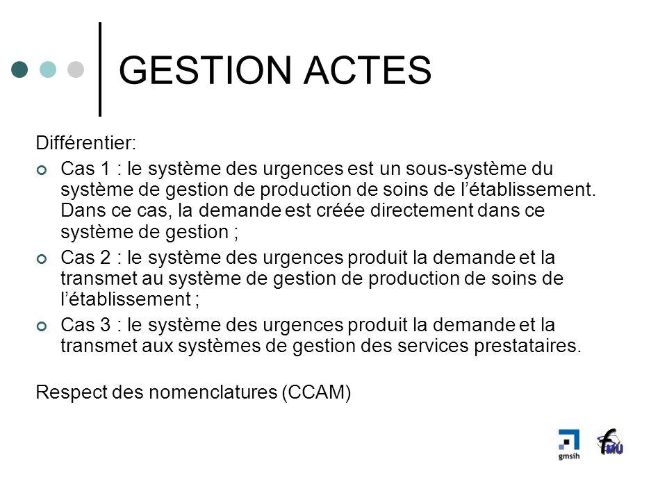 GESTION ACTES Différentier: