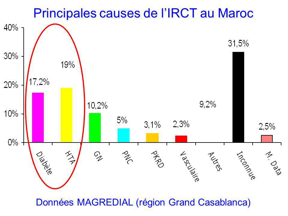 Principales causes de l'IRCT au Maroc